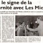 Sous le signe de la fraternité avec Les Miettes : 01-08-2012