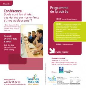 Conférence pour Familles Rurales, le 24/2/2016